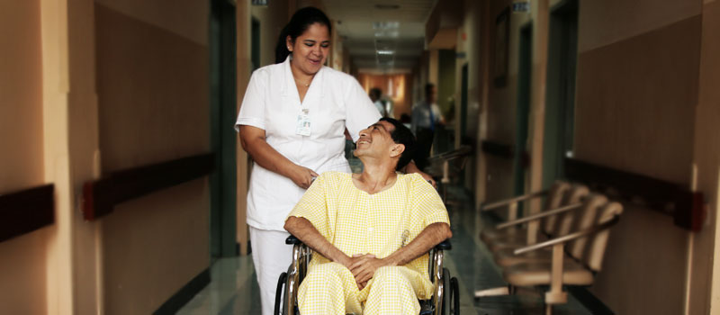 Enfermera del hospital Luis Vernaza